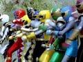 Power Ranger Dino Trueno y Ninja Storm team-up | Transformación y batalla