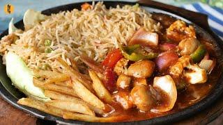 Vegetable Shashlik Sizzler Recipe By Food Fusion