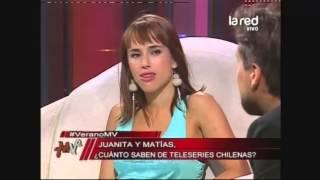 Los actores Juanita Ringeling y Matías Oviedo juegan a la trivia de la teleserie