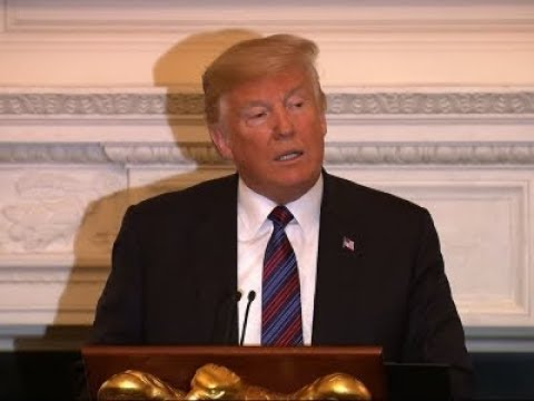 Facing pressure, President Donald Trump broke his silence on John McCain Monday evening, saying he appreciates everything the late senator has done for the country. Trump made the remarks at a White House dinner for evangelical leaders.