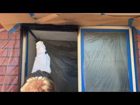 Electrostatic Spray Painting Aluminium Windows