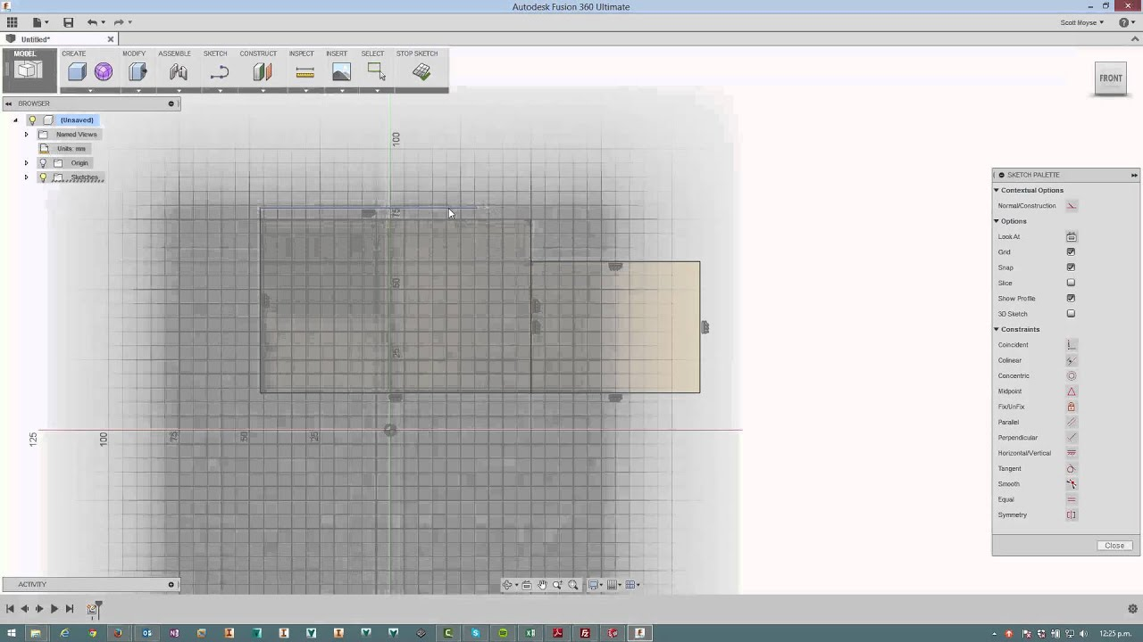 How to delete a rectangles' coincident constraint in Fusion 360