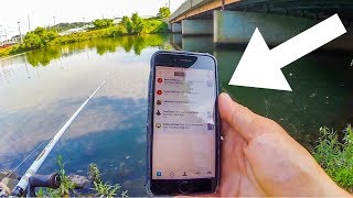 An APP That CATCHES You Fish?! FishBrain Bank Fishing Challenge