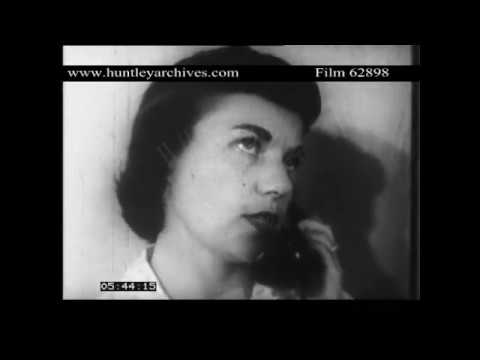 Close up of woman on telephone. 1950's, U.S.A.  Archive film 62898