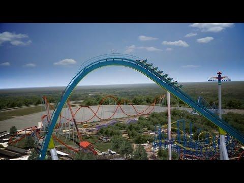 Fury 325 Virtual Ride Worlds Tallest Giga Roller Coaster Carowinds 2015