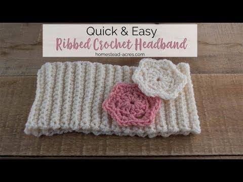 Crochet Ribbed Headband Pattern Tutorial – Easy Beginner Crochet Pattern