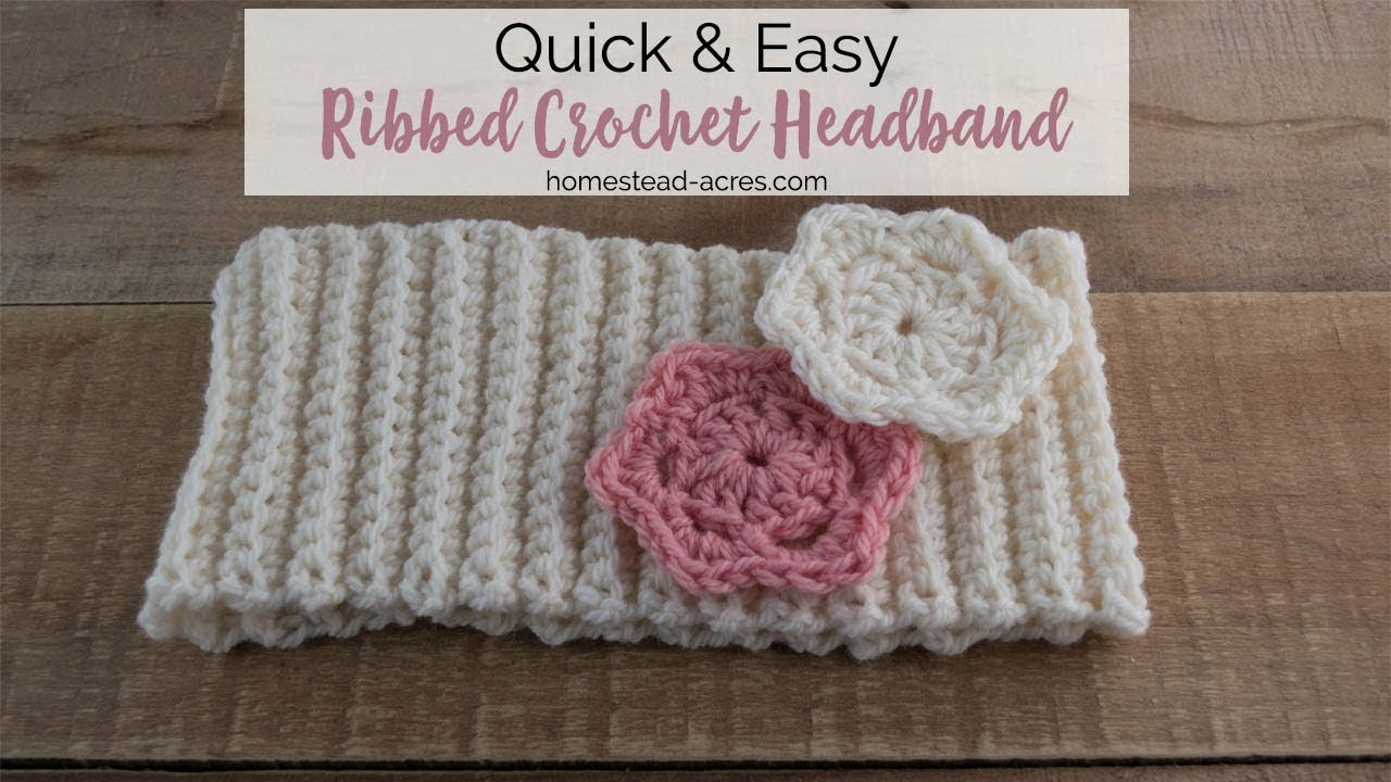 Crochet Ribbed Headband Pattern Tutorial - Easy Beginner Crochet Pattern 5510bb8ae07