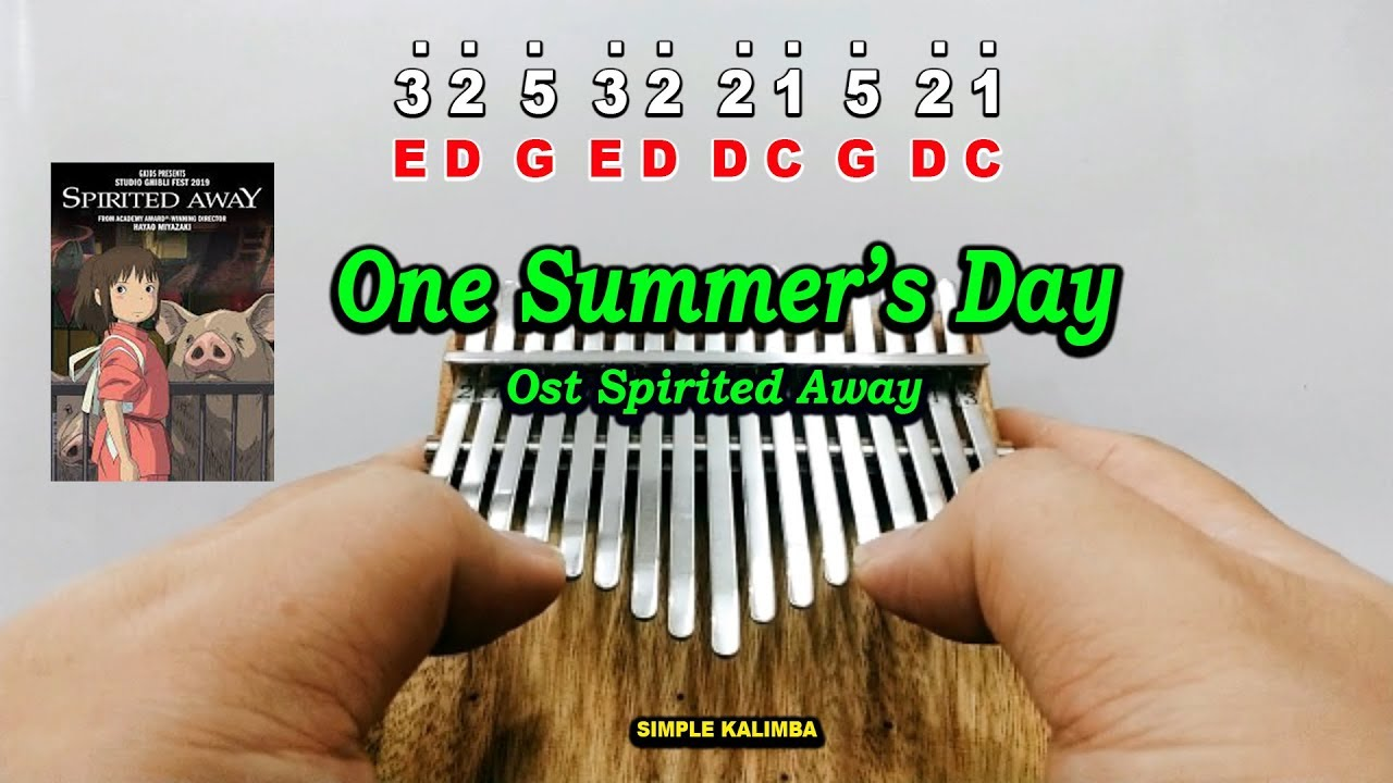 One Summer S Day Ost Spirited Away Kalimba Easy Practice Youtube