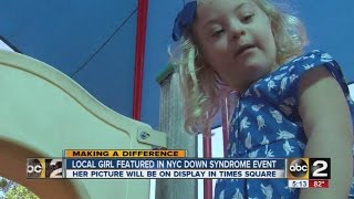 Local girl featured as part of Downs Syndrome event
