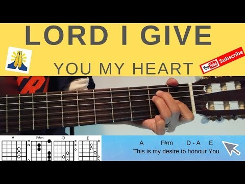 Lord I Give You My Heart Guitar Tutorial with CHORDS and LYRICS
