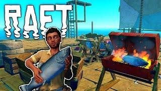 Raft #12 | Barbecue Grill Fisch | Gameplay German Deutsch thumbnail