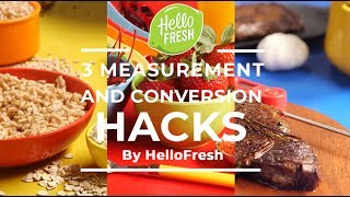 3 Measurement and Conversion Hacks You Need In The Kitchen