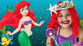 Disney The Little Mermaid Princess Ariel  Makeup and Costume Kids Makeup
