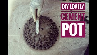 Diy cement projects- Cement pot that will complement your home beautifully..