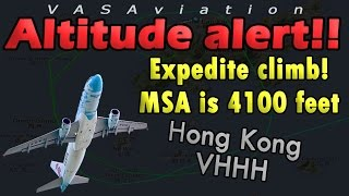[REAL ATC] Shenzen A320 NEAR MISS + LOW ALTITUDE UNDER MSA!!
