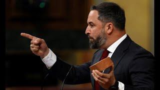 Abascal saca un adoquín en el Congreso y acusa a Marlaska de la violencia contra Vox