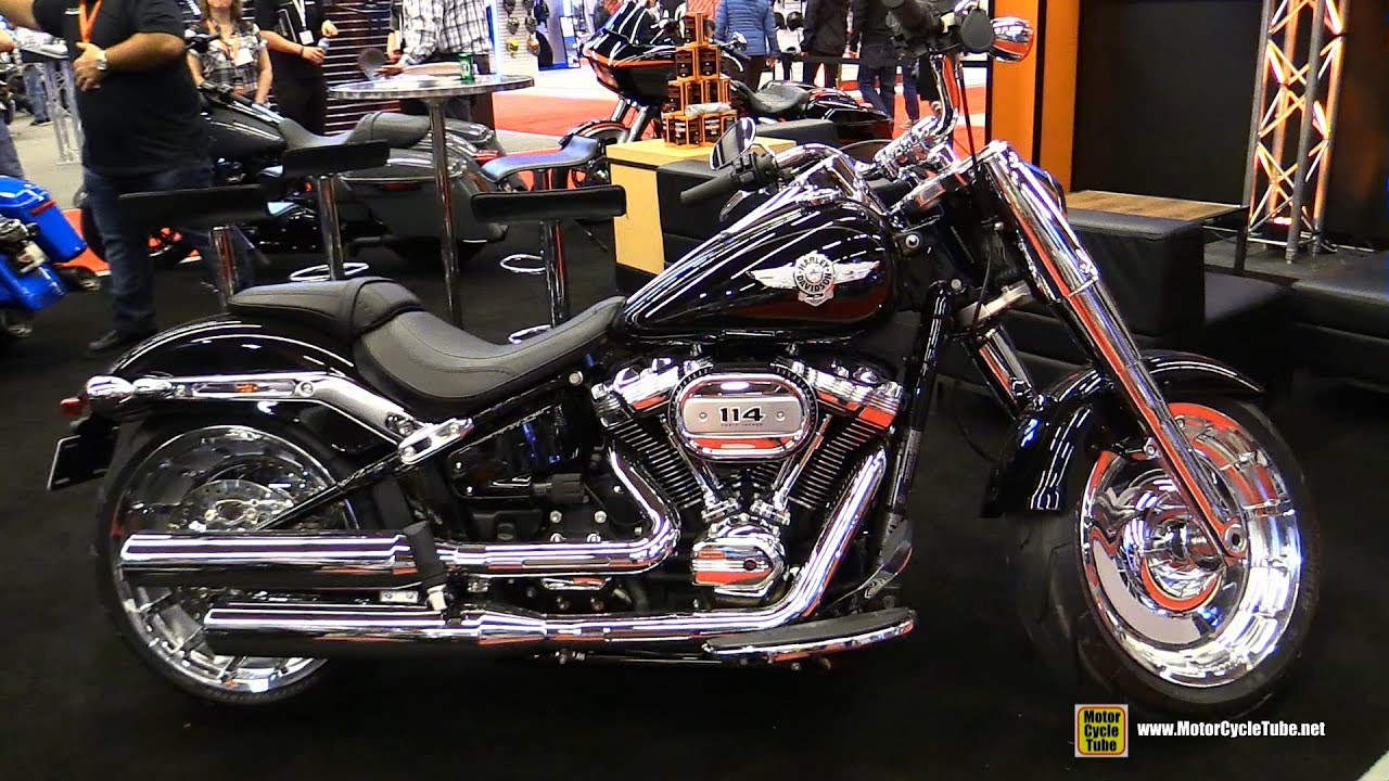 2018 Harley Davidson Fat Boy 114 Customized Walkaround Fatboy With Fairing Montreal Motorcycle Show