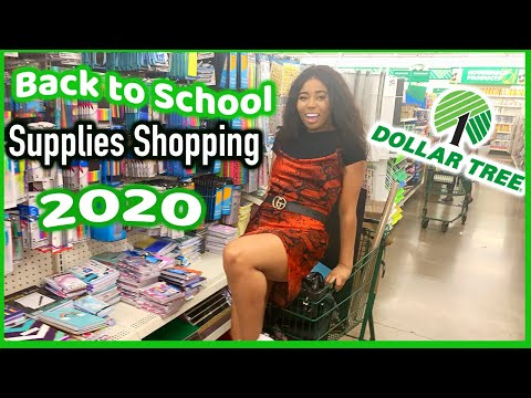 Dollar Tree Back To School Supplies Shopping Vlog 2020