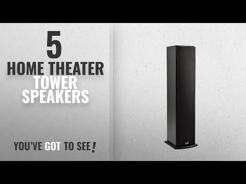 Top 5 Home Theater Tower Speakers [2018]: Polk Audio T50 Home Theater and Music Floor Standing