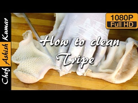 Tripe cleaning easy way | How to clean goat stomach pouch | Boti cleaning