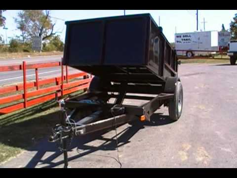 5x8 Dump Trailer Gravel Dirt 9000lb Dump Youtube