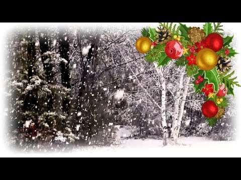 Falling Winter Snow and Beautiful Christmas Music