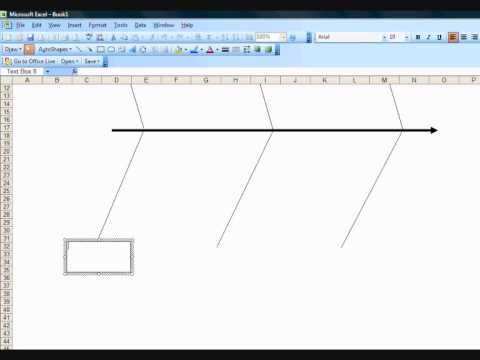 Creating A Fishbone Diagram Template In Excel  Youtube