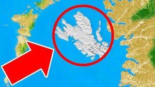 Eine Riesige Sich Bewegende Insel Die Aus Dem Nichts Erschien