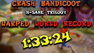 CRASH 3 SPEEDRUN WORLD RECORD (1:33:24) - Crash Bandicoot N-Sane Trilogy