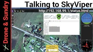 How to connect the SkyViper V2450 GPS browser based Ardupilot configuration and QGroundControl