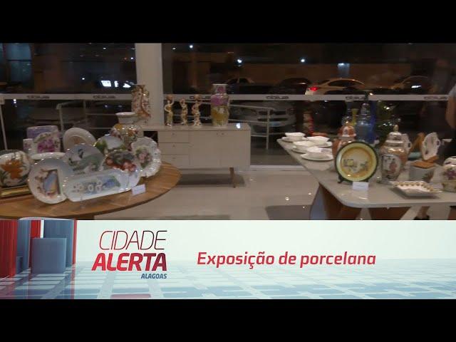 Exposição de porcelana acontece nesse final de semana na Ponta Verde