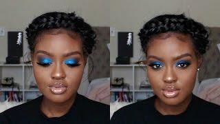 Blue Smokey Eye Holiday Makeup Tutorial