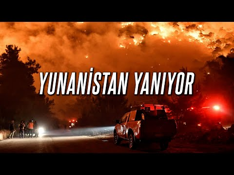 YUNANİSTAN ALEV ALEV YANIYOR! ( Yunanistan Yangın Son Dakika )