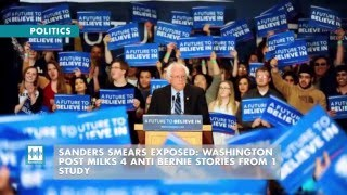 SANDERS SMEARS EXPOSED: Washington Post Milks 4 Anti Bernie Stories From 1 Study Already a focal point in the accusations of an anti-Bernie media bias, the Washington Post showed its colors again last week when it milked one Urban Institute ..., From YouTubeVideos