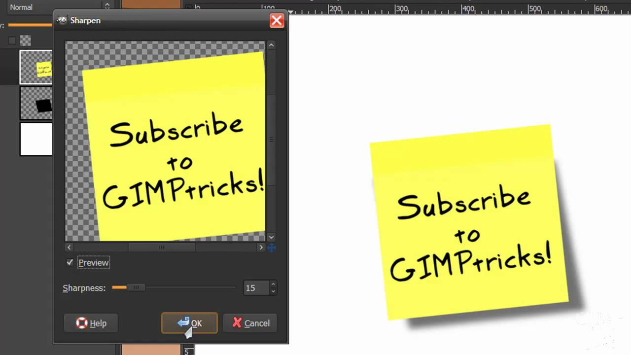make a postit note in gimp tutorial sticky note youtube