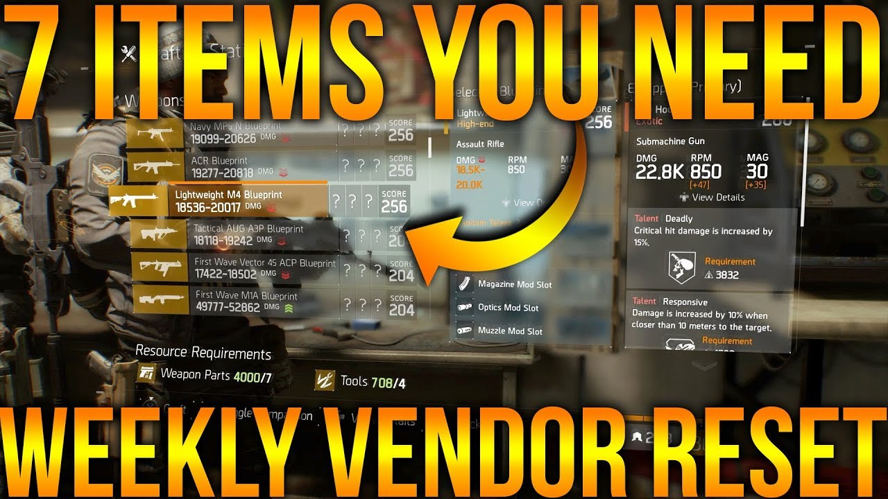 1 blueprint and 6 items you dont want to miss the division weekly 1 blueprint and 6 items you dont want to miss the division weekly vendor reset 5182018 malvernweather Choice Image