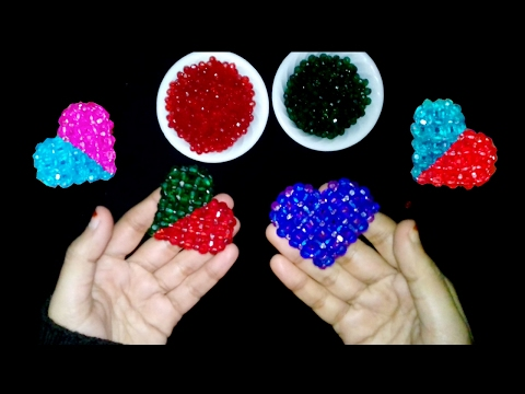 Beaded Heart Tutorial Pattern | How To Make Crystal Beaded Heart | Diy Beaded ♥ Heart ♥ Tutorial