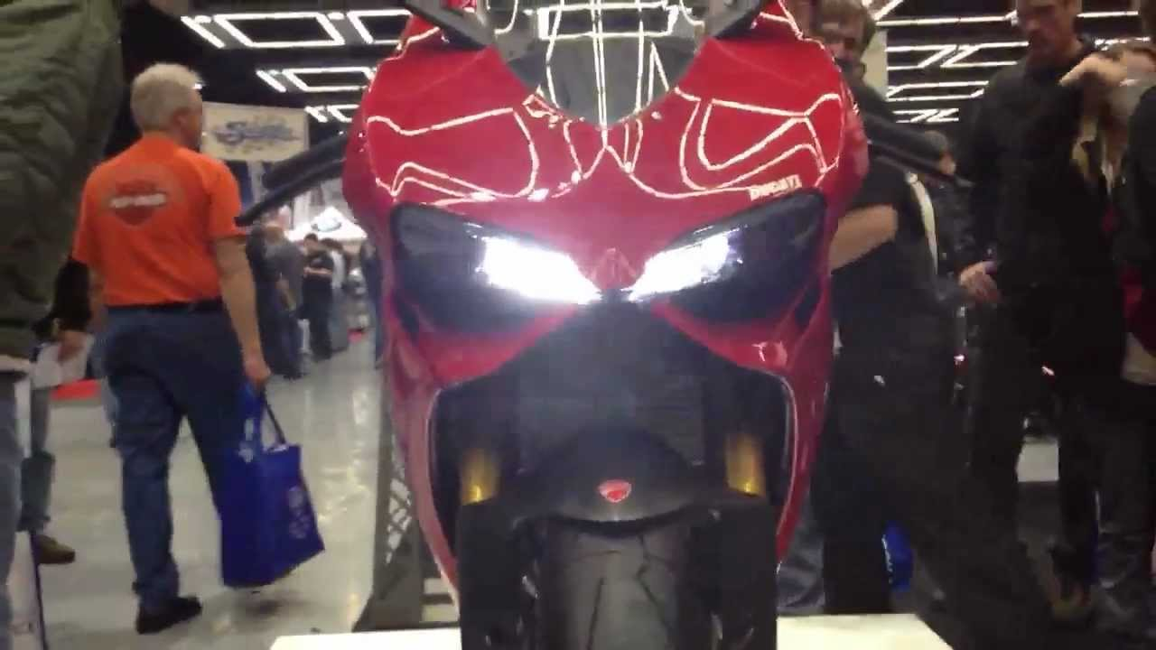 ducati 1199 panigale - headlight, taillights, and instrumen - youtube