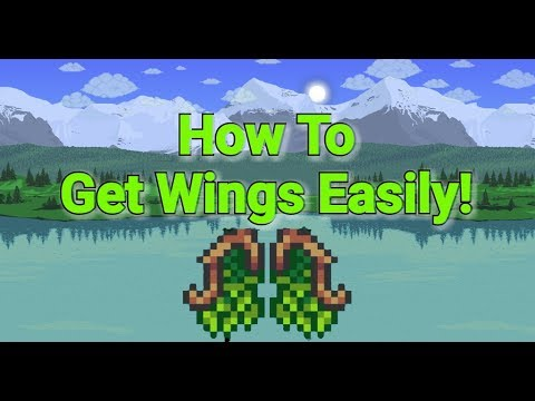 Terraria How To Get Wings! (Super easy)