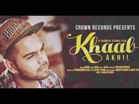 Khaab - Akhil (Karaoke - Piano) Lower Key