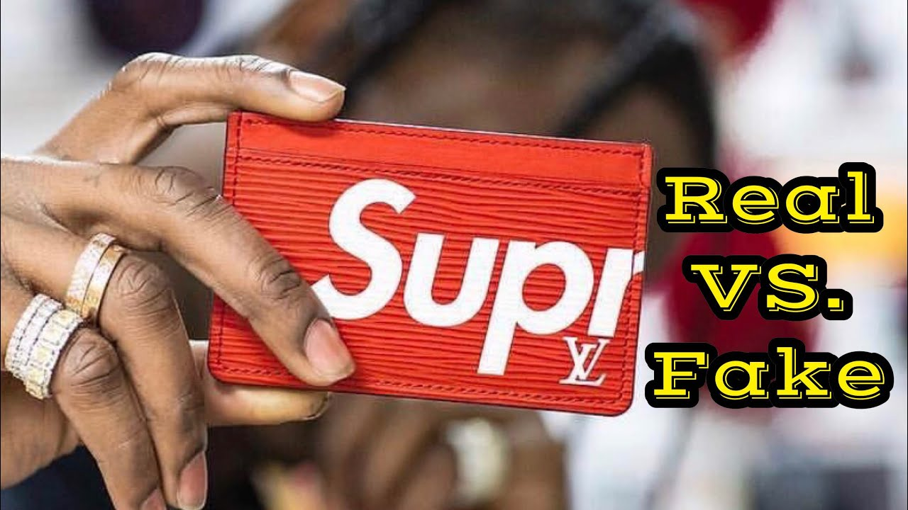 half off 6c3c0 58435 HOW TO LEGIT CHECK // Louis Vuitton x Supreme Epi Red Card Holder