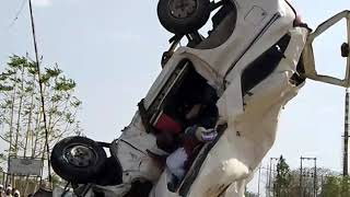Malkapur accident maximo and truck near rasoya factory