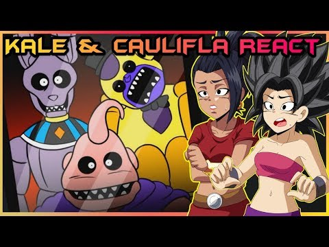 Kale and Caulifla React to Dragon Ball+FNAF Parody