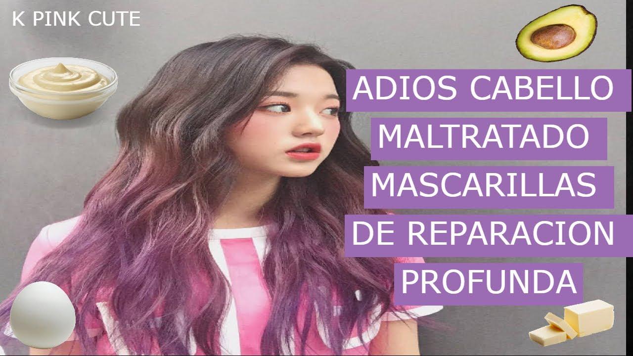 Mascarillas y tratamientos para cabello maltratado y quemado por decoloración y tintes