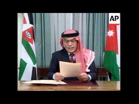 Kuwait/Jordan/Iraq - King Warns Of Attack; Saddam