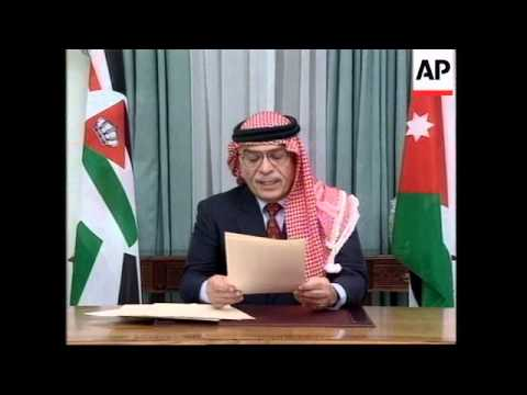Kuwait/Jordan/Iraq - King Warns Of Attack; Saddam
