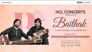 HCL Concerts Baithak : Murad Ali Khan & Fateh Ali Khan