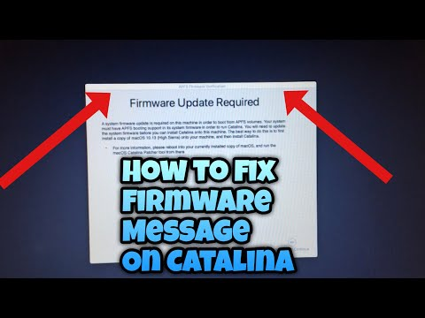 How To Fix Firmware Update Required To Run APFS Volumes