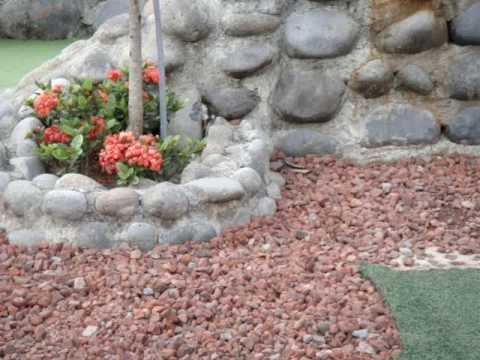 Lava Rock Garden
