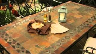 Palazetto Lucca 42 X 84 Inch Mosaic Patio Dining Set Seats 8 - Product Review Video